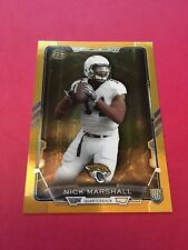 Nick Marshall Jaguars 2015 Bowman Gold Rainbow Rookie #109 97/299