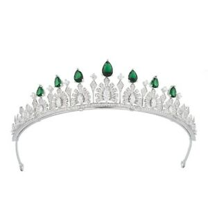 Luxury All CZ Cubic Zirconia Flower Wedding Party Pageant Prom Tiara Crown