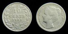 Netherlands - 10 Cent 1901 Zeer Fraai