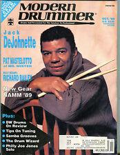 Modern Drummer Magazine Ocotber 1989 Jack DeJohnette EX 040416jhe