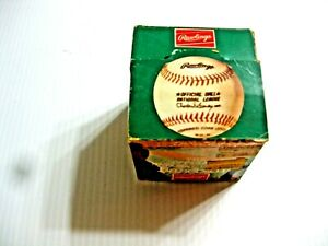 Rawlings Charles Feeney Official National League Baseball in Opened Box