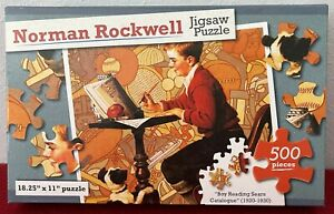 """🧩 Norman Rockwell ~ 500 Piece Puzzle: 18 1/4"""" x 11"""":  NEW IN BOX - SEALED 🧩"""