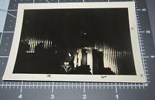 Magician Magic Show Dark Theater On STAGE Unusual Light Vintage Snapshot PHOTO