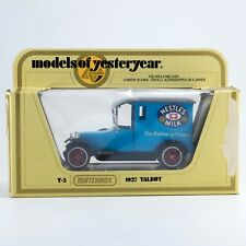 Matchbox Yesteryear 1927 Talbot Van Nestle's Milk Blue Y-5-4 Lesney England 1981