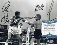 ROBERTO DURAN / THOMAS HEARNS  BOXING  BECKETT AUTHENTICATED  SIGNED 8x10