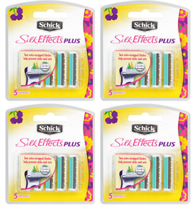 Schick Silk Effects Plus Razor Blade Refills for Women - 20 Cartridges