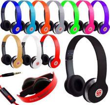 Écouteurs pliables rouge avec fil