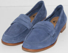 WOMEN SHOES  GIANNI BINI LOAFERS Size 7.5M BLUE SUEDE NEW