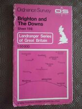 Ordnance Survey Map 1;50k 198 Brighton 1982 Worthing Haywards Heath Burgess Hill