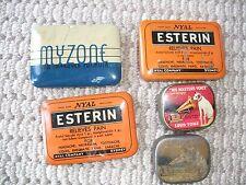 VINTAGE MINIATURE TINS: HMV stylus, Myzone and Esterin tins