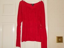 Ladies Red Top By H&M Size M