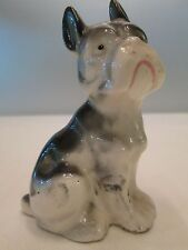 Vintage Porcelain Boston Terrier Figurine Statue Dog 4 inches Tall Japan
