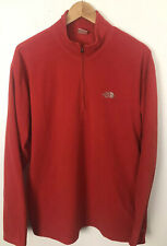 The North Face TKA 100 Red 1/2 Zip Fleece Pullover Mens L Large