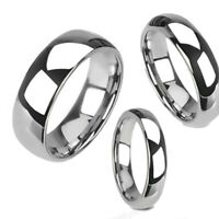 Tungsten Carbide Silver Polished Wedding Band Men Women Engagement Bridal Ring