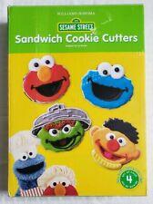 Williams Sonoma Sesame Street Sandwich Cookie Cutters Elmo Cookie Monster Oscar
