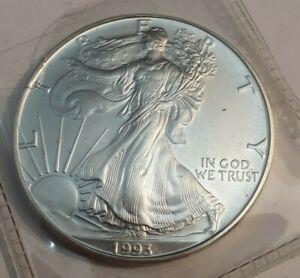 Better Date 1993 American Silver Eagle 1 Troy Oz .999 Fine Silver KEY