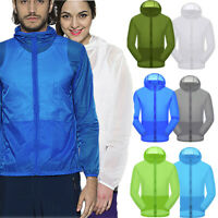 Women's Men's Fashion Windbreaker ZIPPER Jacket Hoodie Sports Outwear Coat Gym