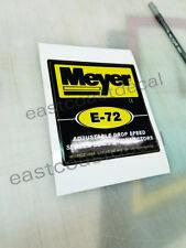 E72 - 1 Meyer pump E72 replacement decal for Meyer E72 Pump Blk/YL (MP72) NEW