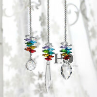 Set 3 Rainbow Maker Crystal Suncatcher Feng Shui Prisms Pendant Wedding Decor