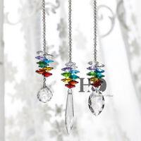 Set 3 Rainbow Maker Crystal Suncatcher Feng Shui Prisms Pendant Wedding Decor