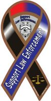 """4""""-18"""" SUPPORT LAW ENFORCEMENT SCALES thin blue line Car Ribbon Vinyl Decal"""
