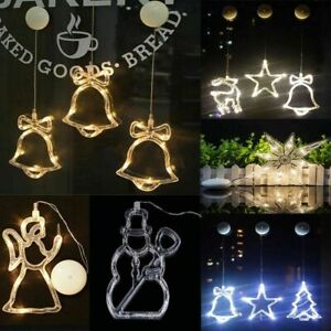 Battery LED Light Festival Christmas Party Home Decorations Lamp Sucker Hanging