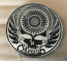 Grateful Dead Skull Oversized Lapel Pin. Hat. Steal Your Face.  High Quality!