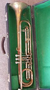 "Nice old TARV trumpet / fanfare, top action rot.Valve ""Meister Scherzer Sinfonia"