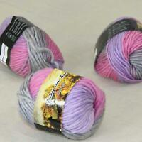 Sale Lot of 3 Skeins New Knitting Yarn Chunky Colorful Hand Wool Wrap Scarves 02