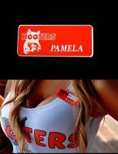Pamela Hooters Girl Uniform Name Tag Pin Halloween Costume Accessory