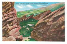Vintage Colorado Linen Postcard Denver South Entrance To Red Rocks Mountain Park