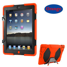 """Hybrid Shockproof Military """"Built-in Screen Protector"""" Case For iPad 2/3/4/Mini1"""