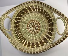 Sweet Grass Basket -11x9 Double Handle Basket New Gullah Baskets Double Medium