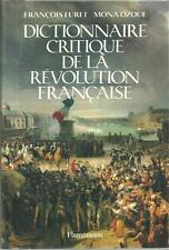 DICTIONNAIRE CRITIQUE DE LA REVOLUTION FRANCAISE - FURET - OZOUF - HISTOIRE