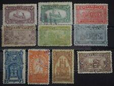 1899 Dominikanische Republik; Serie Mausoleum, MiNr 74+77 gest, Nr 76 ohne Gummi