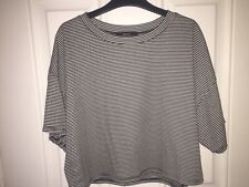 Forever21 oversized t-shirt, Black& white striped, Small