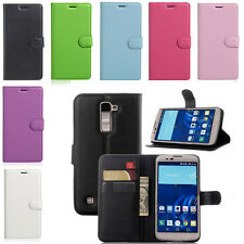 Litchi Grain PU Leather Wallet Card Case Stand Cover for LG K3 K4 K5 K7 K8 K10
