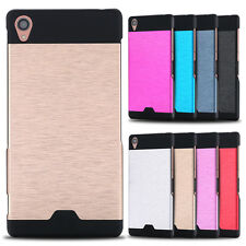 Luxury aluminum hard back capa case sony xperia z1 slim protective phone cover