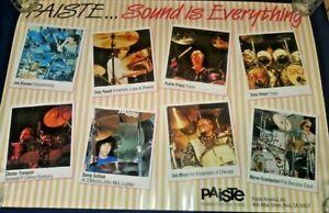 """Vintage Drummer's PAISTE Sound is Everything Switzerland 1985 Poster 27/39"""""""