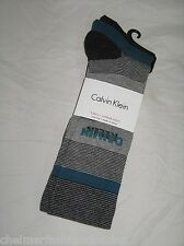 BNWT - CALVIN KLEIN Combed Cotton  Socks  Grey Green   3 Pairs