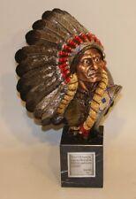 1992 Chilmark Slockbower MetalART Pewter Sculpture Chief Sitting Bull 325/750