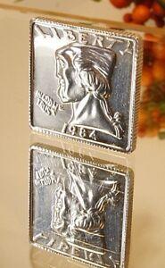 Rare! Vintage 1984 Square Washington Quarter 1/2 Ozt Silver Coin,Great Condition
