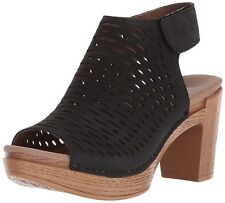 Women's Dansko Comfort Sandal Clog Danae Black Milled Nubuck Leather