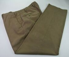 Marco Pescarolo Trousers flat front cotton//linen 34 Washed dull khaki