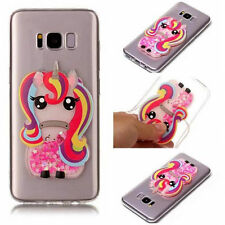 Rainbow 3D Unicorn Pony Dynamic Liquid Soft TPU Case Cover For Various Phones