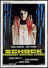 SCHOCK TRANSFERT SUSPENCE HIPNOS MANIFESTO FILM MARIO BAVA HORROR 1977 POSTER 4F