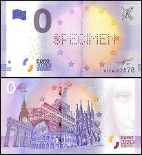 Zero (0) Euro Europe, UNC, SPECIMEN