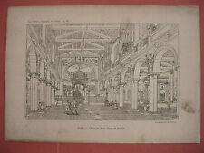 ROMA CHIESA DEI SANTI NEREO E ACHILLEO CARACALLA stampa antica 1894