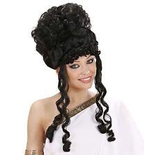 Ladies Black Curly Olympian Goddess Wig Greek Roman Athena Aphrodite Fancy Dress