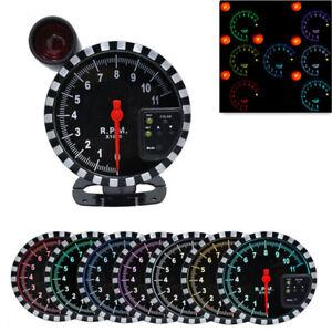 Car Gauge 5 Inch Rpm Meter Tachometer 11000k With Light 7 Color Backlight
